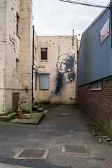 Girl with a .... (Banksy) (clogette) Tags: england art bristol graffiti unitedkingdom banksy gb harbourside earing igersbristol igersmeetvisitbristol