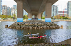 Low Tider (Clayton Perry Photoworks) Tags: canada skyline vancouver boats spring kayak bc falsecreek explorebc explorecanada
