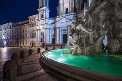Navona Square (Edoardo Angelucci) Tags: rome roma fountain night square piazza fontana piazzanavona dei navona fiumi navonasquare fountainoffourriver geo:lat=41898963 geo:lon=12473081