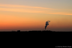 I_B_IMG_6458 (florian_grupp) Tags: china railroad sunset silhouette train landscape asia mine desert muslim railway steam xinjiang mikado locomotive coal js steamlocomotive 282 opencastmine sandaoling