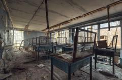 Sperrzone von Tschernobyl ---Prypjat Schule (Nils Grudzielski) Tags: school abandoned canon lost place alt decay leer room ruin desolate zone schule verlassen chernobyl abandonedplaces marode tschernobyl verfallen lostplaces geisterstadt ghostcity klassenraum verlasseneorte prypjat pripjat