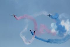 Precision flying (charliejb) Tags: blue red white hawk smoke jet devon redarrows aeroplanes aerobatics dawlish 2013 hawkt1a dawlishairshow