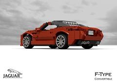 Jaguar F-Type Convertible (lego911) Tags: auto sports car model aluminum lego render convertible jaguar v8 aluminium cad sportscar v6 roadster povray moc ldd miniland 2013 ftype 2010s lego911