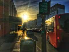Sun setting in Eltham High Street. (ben.beedell1) Tags: sunset england sky london beautiful clouds photography cool eltham hdrphotography