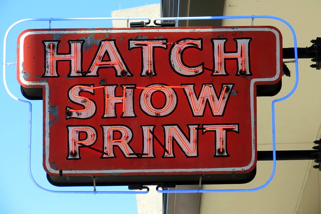Hatch Show Print neon sign (2016)