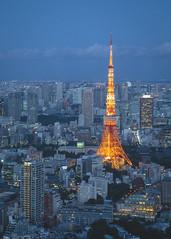Tokyo Tower (Mathieu Noel) Tags: city tower japan tokyo hills tokyotower roppongi roppongihills mori japon ville moritower