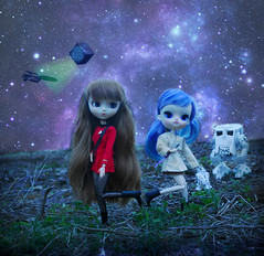 Enterprise Joins The Force (undiscovereddepths) Tags: blue trek star yummy doll dolls space borg dal blueberry r2d2 jedi mio sweets groove pullip lightsaber wars custom enterprise commander sherbert phaser yona merl atsit