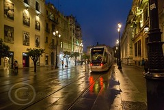 Seville Jan 2016 (12) 037 - Wet and dark in the city (Mark Schofield @ JB Schofield) Tags: santa plaza bridge parque people streets wet public caf rio architecture bar night umbrella reflections river dark ceramic puente graffiti la los spain guadalquivir san expo cathedral maria candid transport iglesia tram seville espana cruz tiles parasol universidad alcazar pavilion oranges harp andalusia cobbles encarnacion luisa giralda isla embankment metropol arenal justa triana macarena remedios cartuja alamillo bernado chapina