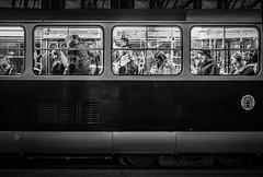 Lost in Space (Doug Knisely) Tags: street men night women prague tram olympus passengers oldtown glance riders 1517 4518 omdem5markii