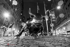 The bull of Wall street (Luca Proietti Photographer) Tags: bw newyork manhattan wallstreet toro biancoenero canon1740 canon6d thebullofwallstreet