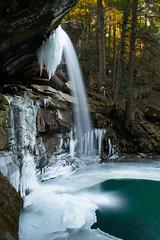 Flat Lick Falls in Jackson County, KY (oliverstarks) Tags: county longexposure winter ice kentucky january jackson waterfalls flatlickfalls
