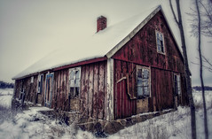 Frozen in time (FanFan Babii or just plain Buffan) Tags: red cold abandoned rural countryside decay forgotten ruraldecay urbanexploring frozenintime forgott