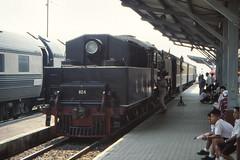 Thailand - Kanchanaburi - The Burma line (railasia) Tags: thailand kanchanaburi burmaline srt metergauge steamlocotrain pacific class800 heritage specialrun nineties