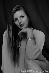 Manon 2016 (Moti B&W Photography) Tags: blackandwhite woman sexy beauty pose studio nikon women noiretblanc femme belle fille numérique féminin féminité