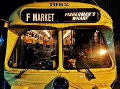 F Market (O Caritas) Tags: sanfrancisco california mobile night trolley january cellphone tram muni streetcar thecastro fline 17thstreet 2016 fmarket sfmta snapseed samsunggalaxysiii 2016010820200601 copyright2016bypatricktpowerallrightsreserved 8january2016