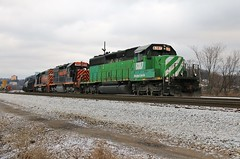 Up a Little More (BravoDelta1999) Tags: railroad train nw pennsylvania greentree norfolkwestern manifest emd sd402 6387 wle rookyard wheelinglakeerie