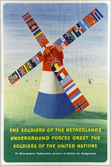 Poster verwelkoming soldaten United Nations. (Regionaal Archief Alkmaar Commons) Tags: flags unitednations ww2 alkmaar 1945 molen wo2 affiche secondworldwar vlaggen bevrijding tweedewereldoorlog