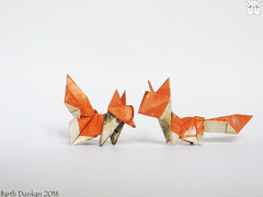 Oru Dollar Bill Fox Cubs - Barth Dunkan (Magic Fingaz) Tags: origami fox zorro fuchs renard 狐狸 여우 キツネ rubah origamifox barthdunkan लोमड़ी