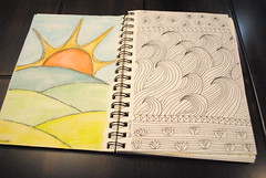 Random Sketchbook Pages 2015 (Ulixis) Tags: girls sun collage pencils sketch words random pages sketchbook daily doodle goals watercolour draw schedules lists ulixis reciep