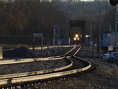 BNSF Railroad Tracks and Locomotive - Valley Park, MO_P1310134 (Wampa-One) Tags: headlights locomotive bnsf railroadtracks valleyparkmo cubasub