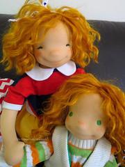 Golden hair sisters (DOWN UNDER WALDORFS) Tags: boneca puppen bambola handmadedoll waldorfdoll popje lalki naturaltoys waldorfinspireddoll downunderwaldorfs
