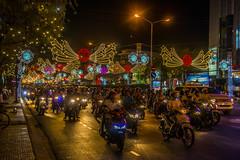 Traffic at night (tatlmt) Tags: river asia vietnam mekongdelta