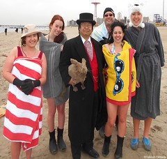 Dr. Takeshi Yamada and Seara (Coney Island Sea Rabbit) at the winter swimming event by the Coney Island Polar Bear Club at the Coney Island Beach in Brooklyn, New York on January 17 (Sun), 2015.  mermaids & merman.  20160117Sun DSCN3459=2015pC1 (searabbits23) Tags: winter ny newyork sexy celebrity art beach fashion animal brooklyn asian coneyisland japanese star yahoo costume tv google king artist dragon god cosplay manhattan wildlife famous gothic goth performance pop taxidermy cnn tuxedo bikini tophat unitednations playboy entertainer samurai genius donaldtrump mermaid amc mardigras salvadordali billclinton hillaryclinton billgates aol vangogh curiosities bing sideshow jeffkoons globalwarming takashimurakami pablopicasso steampunk damienhirst cryptozoology freakshow barackobama polarbearclub seara immortalized takeshiyamada museumofworldwonders roguetaxidermy searabbit ladygaga climategate