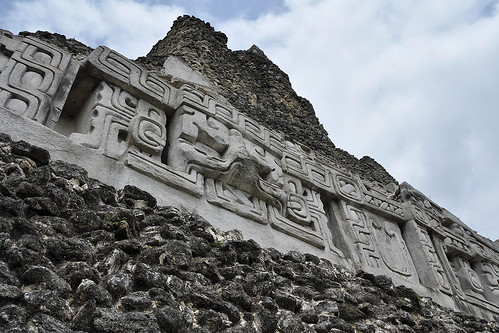 San Jose Succotz - Mayan Basrelief On El Castillo
