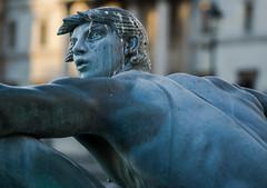 Detail - A Trafalgar Square Fountain Statue (Olympus OMD EM5II & mZuiko 75mm F1.8 Prime) (markdbaynham) Tags: city urban london westminster square prime capital trafalgar evil olympus metropolis f18 omd csc oly mz 75mm londoner londonist m43 zd mft mirrorless micro43 microfourthirds micro43rd mzuiko m43rd em5ii zuikolic