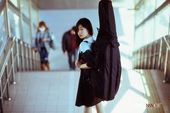 Cello Ken (Sundance = ) Tags: portrait female zeiss iso100 nikon f14 ken 85mm velvia cello fujifilm fujichrome fm2   sundancelee  filmneverdie  sundanncestudio celloken