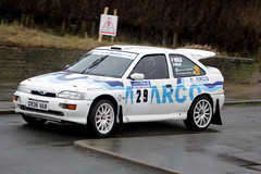 legend fire rally 2016 | Escort | Q936 VAB (Jgalea14) Tags: blue wild white ford window glass car wheel canon fire mirror rally round physics p 29 legend blackpool escort rotary fleetwood 2016 100d