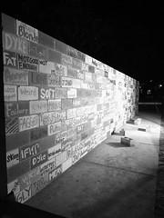 2016 B&W Project 366 #27 (hetrickwesley) Tags: bw monochrome fuji universityofflorida hate racism uf writingonthewall 2016 xf1 366project