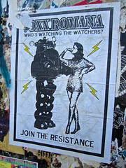 Voxx Romana, San Francisco, CA (Robby Virus) Tags: sanfrancisco california street art wheatpaste paste watching join pasted resistance romana watchers voxx
