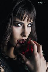 Bleeding rose (maikel_nai) Tags: portrait girl rose studio blood model photoshoot makeup piercing redlips brunette browneyes blackhair carlota blackdress n4i n4ies blackrednails cristinago beauty2016carlotabusttelocristinagobodybotasnegrasestudiogticahielohumoicegirllabiosrojoslegginslatexlegginsnegrosmakeuprosarojasalsangresesinstrobisttaconesvestidonegrovestidorojojerezdelafronteracdizspain