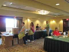 Volunteers Stuffing Bags Tuesday 1