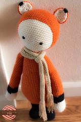 Fibi the Fox by Lalylala (somethingbyvera) Tags: scarf diy stuffed pattern crochet yarn fox hook amigurumi fibi hobbie lalylala somethingbyvera