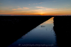 Day 34: Big Norfolk Skies (Howie1967) Tags: sunset reflection water landscape norfolk yarmouth broads caister