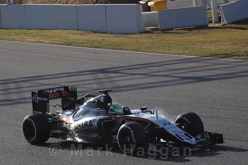 Nico Hulkenberg in his Formula One Winter Testing 2016