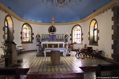 Inside the Church (DJ Greer) Tags: blue windows light shadow church window town shadows village martinique carribean ceiling altar explore anse chadiere