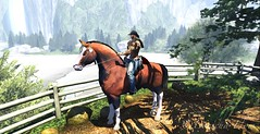 stop and smell the fresh air (Boricua Flow) Tags: ranch muscles tattoo freshair woods cowboy avatar country trail secondlife neko rancher horseback vamp fit boricua vamplove