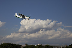 A SMALL AIRPORT, SOME PARKS AND CLOUDS - XXI (Jussi Salmiakkinen (JUNJI SUDA)) Tags: park wood summer sky cloud japan airplane landscape tokyo airport cityscape aircraft     chofu