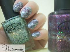 Desafio das Series: 3 - HOW I MET YOUR MOTHER (Dulamaik) Tags: glitter cinza brilho desafio colorama esponjado colorclub pontudinhas