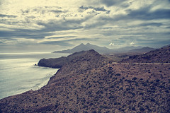 Almera (CROMEO) Tags: espaa beach clouds de point photography photo spain cabo mediterraneo view desert wind pano playa pic andalucia nubes gata vistas almeria cr pais rodalquilar cabogata cromeo