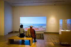 Karen and Bob Enjoying the Show (Roshine Photography) Tags: family people tacomaartmuseum ell bobell karenell