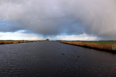 Rain over the canal (Davydutchy) Tags: holland netherlands rain ferry canal pluie pont february paysbas friesland regen fhre waterway niederlande vaart 2016 frysln langweer langwar langweerdervaart brekken langwarderfeart