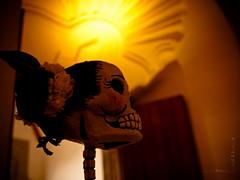 Catrina (Totomoxtle) Tags: art mexicana de doll arte traditions dia noviembre mexican muertos papel catrina posadas muñeca tradiciones cartoneria