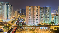 Night at Kowloon Bay, Hong Kong (johnlsl) Tags: night hongkong landscapes cityscape kowloonbay