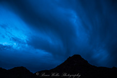 Blue Hour in the Desert (Arizphotodude) Tags: longexposure sunset arizona mountains nature clouds landscape outdoors nikon desert explore d750 bluehour cloudporn silohuette whitetanks nikond750