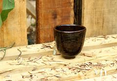 Tea cup in Tenmoku (semi.ivan) Tags: ceramics pottery teacup yunomi tenmoku
