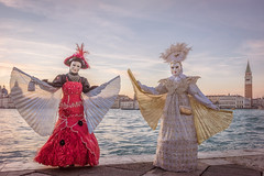 Models with Wings (Kayla Stevenson) Tags: venice costume model piazza sangiorgiomaggiore